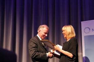Daglig leder Svein Nordvik (co2bio) og administrerende direktør Marit Warncke (Bergen Næringsråd)